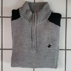 Beverly Hills Polo Club Men's Color Block Sweater